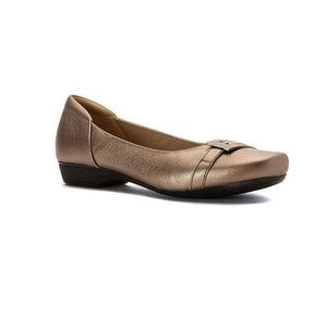Clarks Blanche West Gold Flat